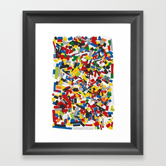 The Lego Movie Framed Art Print By Martin Lucas Society6