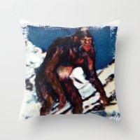 Bigfoot is Real Throw Pillow