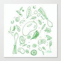 Mango Chicken Canvas Print