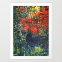 Blue Bird. Art Print
