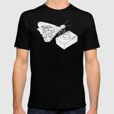 Butterfly Mens Fitted Tee SMALL Black