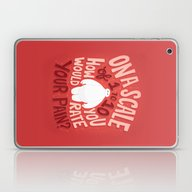 Laptop & iPad Skin featuring Rate Your Pain by Risa Rodil