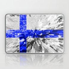 Finland Flag - Extrude Laptop & iPad Skin