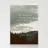 The Mountain Is Calling Stationery Cards