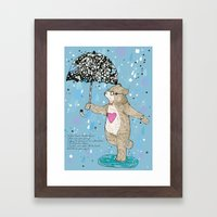 Mister Bear Framed Art Print