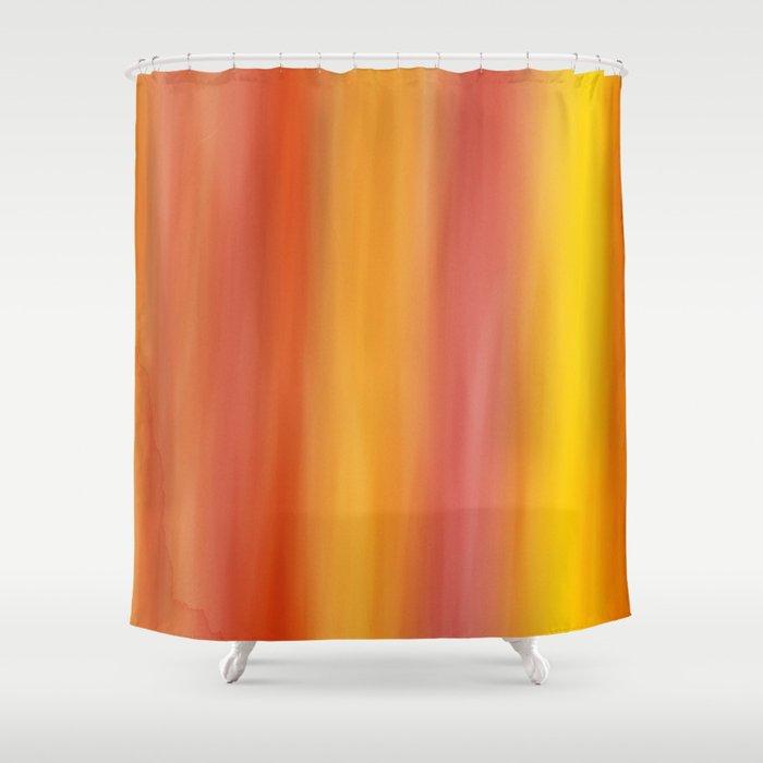 Texture Orange Yellow Shower Curtain By Fine2art