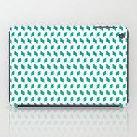 rhombus bomb in emerald iPad Case