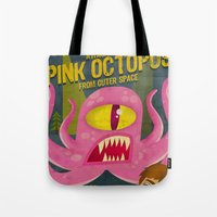 Pink Octopus From Outer … Tote Bag