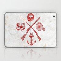Skull Flower Rifle Bicyc… Laptop & iPad Skin