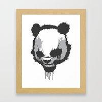 Dirty Angry Panda Framed Art Print