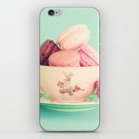 Vintage cup with macaroons iPhone & iPod Skin