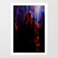 The house haunted Art Print