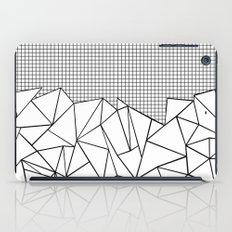 Abstract Outline Grid Black on White iPad Case