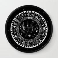 INSIDE OF DESERTS Wall Clock