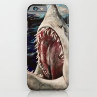 iPhone & iPod Case featuring Mako Shark of Dark Waters by Kristin Frenzel