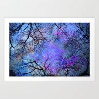 Sky dreams. Serial. Blue Art Print