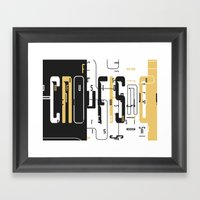 Confusion. Framed Art Print