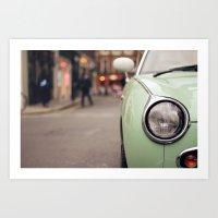 The Green Car Art Print