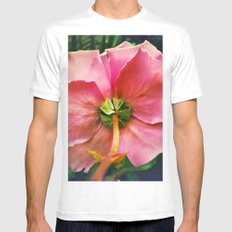 Rose Back Mens Fitted Tee White SMALL