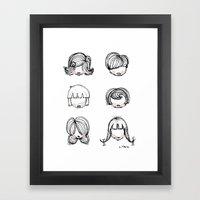 Hairstyles Framed Art Print