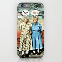 iPhone & iPod Case featuring Two Cool Kitties: What's for Lunch? by Peter Gross
