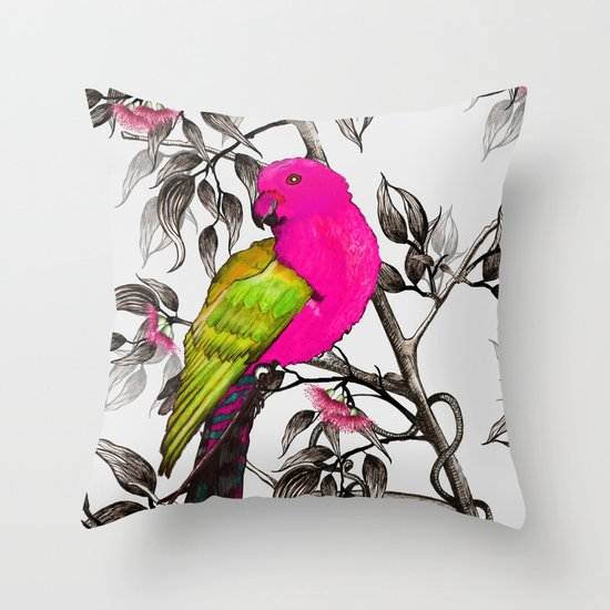King Parrot Throw Pillow