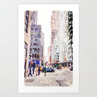 nyc Art Prints featuring NYC by Christine Workman