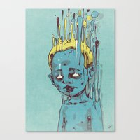 The Blue Boy With Golden… Canvas Print