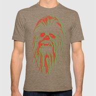 Chewbacca Mens Fitted Tee Tri-Coffee SMALL