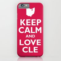 iPhone & iPod Case featuring Keep Calm and Love CLE by anastasia5