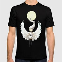 Angel 2 Mens Fitted Tee Black SMALL