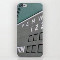 Fenwall -- Boston Fenway Park Wall, Green Monster, Red Sox iPhone & iPod Skin