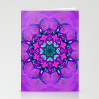 Floral Whirl Stationery Cards