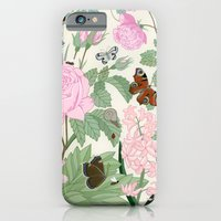 Pink flowers and butterflies iPhone 6 Slim Case
