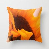SunflowerPower ~ Retro S… Throw Pillow