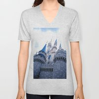 Disney Castle In Color Unisex V-Neck