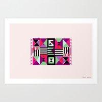 Violet Triangulation Art Print