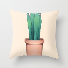 Cactuses Are Dangerous Throw Pillow