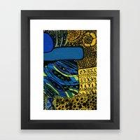 town by the ocean Framed Art Print