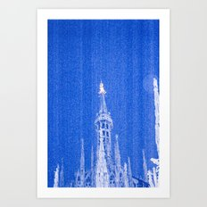 Night of Blue over Milan Art Print