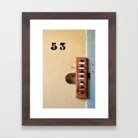 Ring my bell Framed Art Print