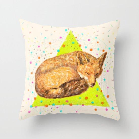 Fox Dream Throw Pillow