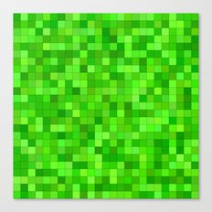 Green square mosaic Canvas Print