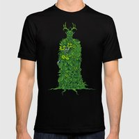 Forest Spirit Mens Fitted Tee Black SMALL