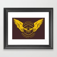 Castiel's Heavenly Honey Framed Art Print