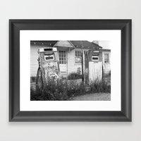 Old Gas Pumps Framed Art Print