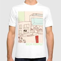 Rich People Mens Fitted Tee White SMALL