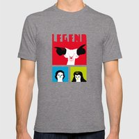 Legend Poster Mens Fitted Tee Tri-Grey SMALL