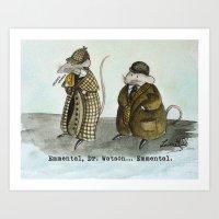 Sherlock Holmes Wisdom Art Print