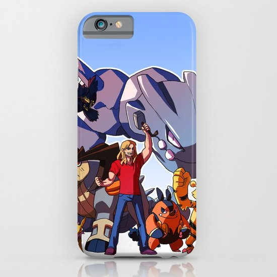 Pokemon Avengers-Thor iPhone & iPod Case